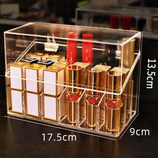 リップスタンド リップケース ブラシスタンド 口紅収納大容量(メイクボックス)