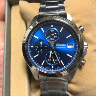 セイコー(SEIKO)の【新品】クロノグラフ クオーツ メンズ 腕時計  SEIKO ブルー(腕時計(アナログ))