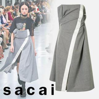 サカイ(sacai)のsacaiのドレープドレス ひろぴす様専用(ロングワンピース/マキシワンピース)
