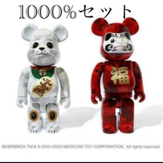 メディコムトイ(MEDICOM TOY)のNEW YEAR BAPE BE@RBRICK招き猫&達磨 1000%(その他)