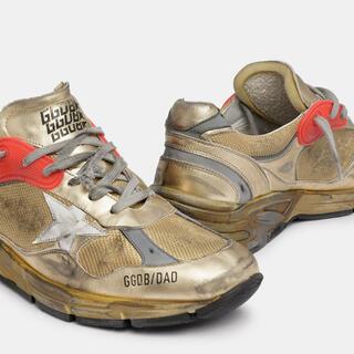 GOLDEN GOOSE - ゴールデン グース スニーカー「DAD-STAR」ゴールド