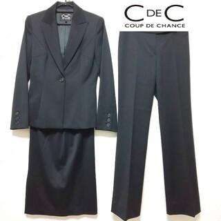 クードシャンス(COUP DE CHANCE)の【美品】クードシャンス ウール セットアップスーツ 3点 日本製 ブラック M(スーツ)