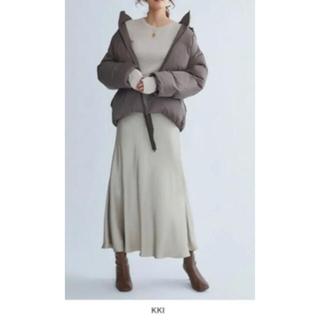 ミラオーウェン(Mila Owen)の今期 新作 ミラ オーウェン 0サイズ KKI 裾リボンダウンジャケット(ダウンジャケット)