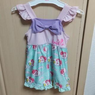 ディズニー(Disney)の女の子用の水着アリエル柄サイズ100(水着)