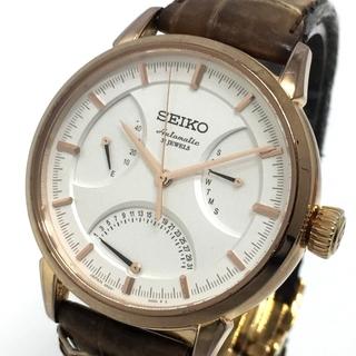 セイコー(SEIKO)のセイコー プレサージュ 腕時計 6R24-00D0 デイデイト ピンクゴールド(腕時計(アナログ))