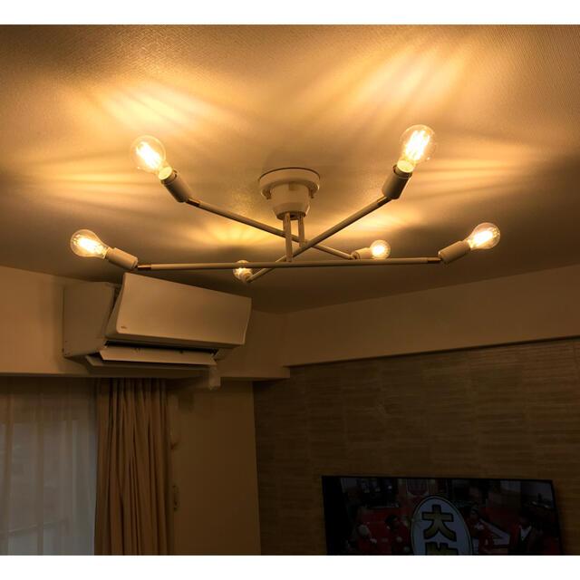 ACTUS(アクタス)のほぼ新品 リモコン付6灯シーリングライト インテリア/住まい/日用品のライト/照明/LED(天井照明)の商品写真