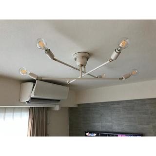 アクタス(ACTUS)のほぼ新品 リモコン付6灯シーリングライト(天井照明)