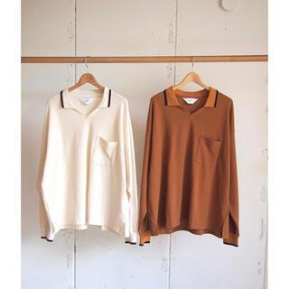 コモリ(COMOLI)の新品未使用 wonderland 20aw knit polo shirts(ポロシャツ)
