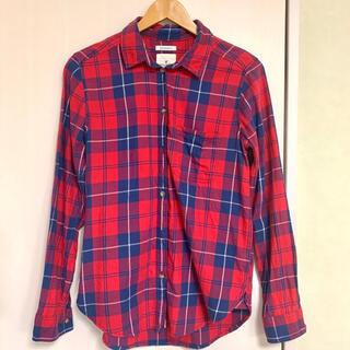 アメリカンイーグル(American Eagle)のアメリカンイーグル 長袖 赤チェックシャツ(シャツ/ブラウス(長袖/七分))
