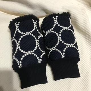 ミナペルホネン(mina perhonen)のミナペルホネン ハンドウォーマー 新作タンバリン ネイビーホワイト(手袋)