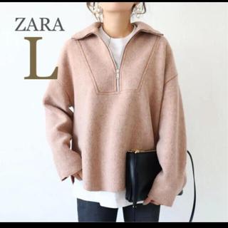 ZARA - 【新品・未使用】ZARA  シアリング トップス L