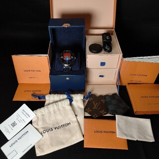 LOUIS VUITTON - 超美品!バッテリーも元気!ルイヴィトン タンブールホライゾン 腕時計