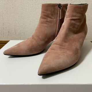 イエナ(IENA)のDEI MILLE ピンクスエードショートブーツ(ブーツ)