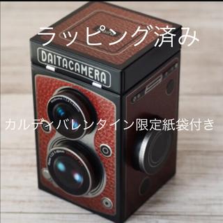 KALDI - カルディ レフレックスカメラ缶 カルディチョコレート カメラ缶 ラッピング済み
