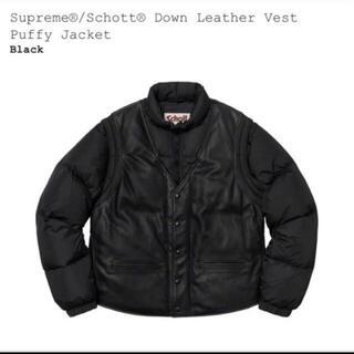シュプリーム(Supreme)のsupreme schott down leather vest jacket(レザージャケット)
