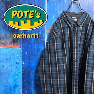 カーハート(carhartt)の【カーハート】ポケットロゴタグ入りレトロビッグワークチェックシャツ(シャツ)