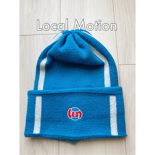 クイックシルバー(QUIKSILVER)のLocal Motion ローカルモーション ニット帽 美品 フリーサイズ(ニット帽/ビーニー)
