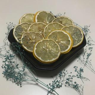 〈A-2〉ドライレモン ソフトミニかすみ草濃いグリーンのおまけ付き(ドライフラワー)