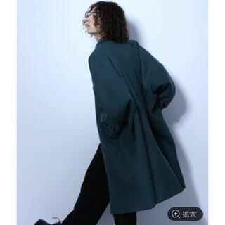 ハレ(HARE)のハレ ウールドルマンステンカラーコート ブルー S 新品タグ付き(ステンカラーコート)