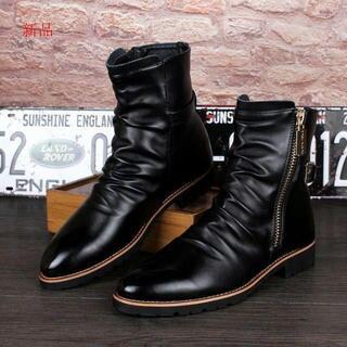 ショートブーツ メンズ 革靴 エンジニアブーツ ライダースD(ブーツ)