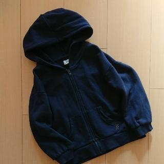 シマムラ(しまむら)の記名あり★未使用に近いネイビーパーカー100(ジャケット/上着)