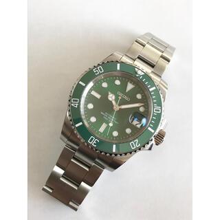 セイコー(SEIKO)のNH35ムーブ使用(セイコー製) カスタム グリーンサブタイプ セイコーダイバー(腕時計(アナログ))