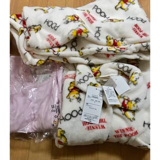 ディズニー(Disney)のプーさん ふわもこパジャマ ルームウェア ロンT Lサイズ(パジャマ)