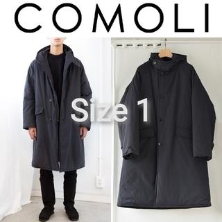 COMOLI - 新品■COMOLI インサレーション フーデッドコート 1 黒 ブラック