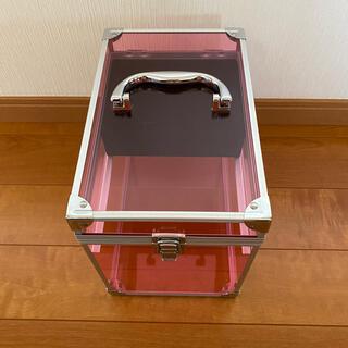 メイクボックス 透明 ピンク かわいい(メイクボックス)