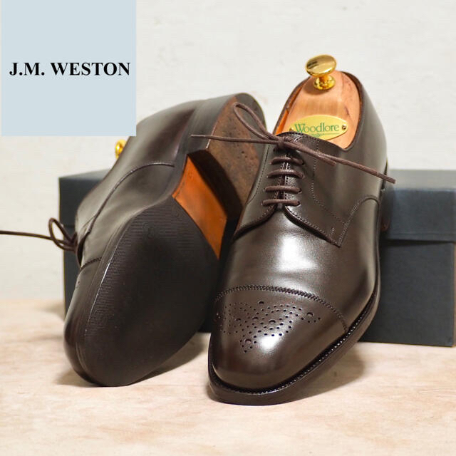 J.M. WESTON(ジェーエムウエストン)のJ.M. Weston 6/E ウェストン ストレートチップ ダービー メンズの靴/シューズ(ドレス/ビジネス)の商品写真