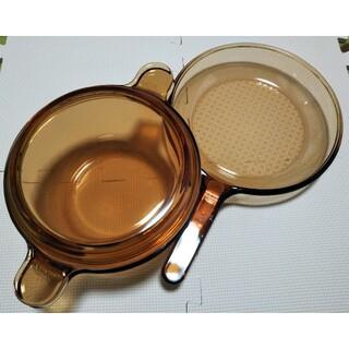 パイレックス(Pyrex)のVISION イワキ パイレックス超耐熱ガラス フライパン鍋セット キャセロール(鍋/フライパン)
