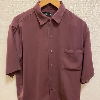 ハレ(HARE)のHARE オープンカラーシャツ紫(シャツ)