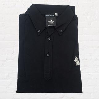 スタディオクリップ(STUDIO CLIP)の【新品】ムーミン ポロシャツ ブラック XL ムーミンショップ  (ポロシャツ)