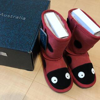 エミュー(EMU)の専用 新品タグ付 EMU  ムートン ブーツ てんとう虫 16センチ(ブーツ)
