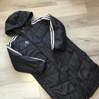 アディダス(adidas)のアディダス ダウンベンチコート 120センチ 黒(コート)