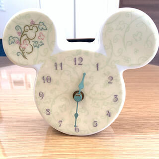 ディズニー(Disney)の時計_ディズニーミッキーマウス型(陶器)(置時計)