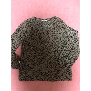 オペークドットクリップ(OPAQUE.CLIP)のシャツ ブラウス レオパード アニマル ワールド(シャツ/ブラウス(長袖/七分))