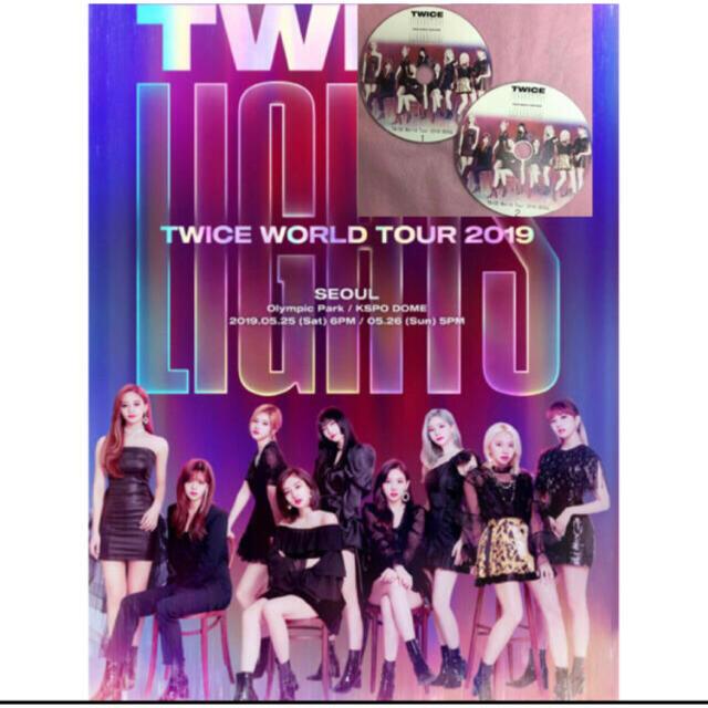 Waste(twice)(ウェストトゥワイス)のTWICE WORLDツアー LIGHTS 2019 Seoul公演 트와이스 エンタメ/ホビーのDVD/ブルーレイ(ミュージック)の商品写真