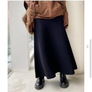 アパルトモンドゥーズィエムクラス(L'Appartement DEUXIEME CLASSE)のL'Appartement Knit Long Skirt ブラック/36(ロングスカート)