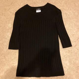 シャネル(CHANEL)の七部袖コットンニット。(Tシャツ(長袖/七分))