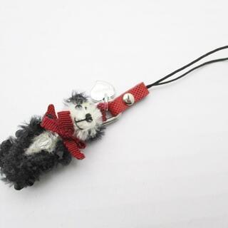 プラダ(PRADA)のプラダ 携帯ストラップ - 黒×白×ボルドー(ストラップ/イヤホンジャック)