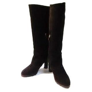 サルヴァトーレフェラガモ(Salvatore Ferragamo)のサルバトーレフェラガモ ロングブーツ 6 D(ブーツ)