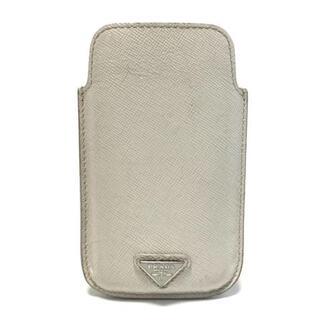 プラダ(PRADA)のプラダ 携帯電話ケース - 2ARD62 レザー(モバイルケース/カバー)