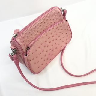 オーストリッチ(OSTRICH)のオーストリッチレザー ピンク ショルダーバッグ 2way ハンドバッグ(ショルダーバッグ)