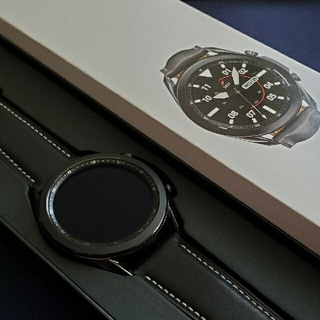 サムスン(SAMSUNG)の美品  Galaxy Watch3 45mm ブラック(腕時計(デジタル))