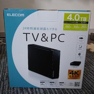 エレコム(ELECOM)の開封のみ エレコム ハードディスク 外付け USB3.2 4TB(テレビ)