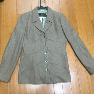 フェンディ(FENDI)のFENDYフェンディ ジャケット 薄茶 サイズ46(テーラードジャケット)