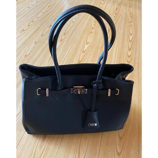 リゼクシー(RESEXXY)のRESEXXY ベーシックデザインバッグ ブラック 美品(トートバッグ)