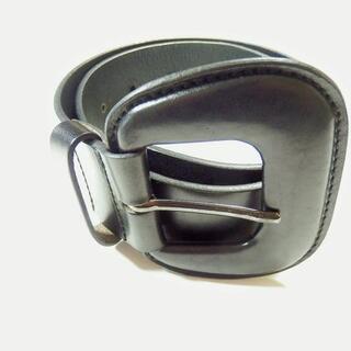 モンクレール(MONCLER)のMONCLER(モンクレール) ベルト - 黒 レザー(ベルト)