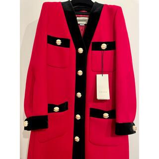 グッチ(Gucci)のGUCCI RED&BLACKロングコート(ロングコート)